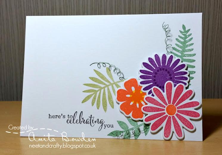 картичка за рожден ден с цветя