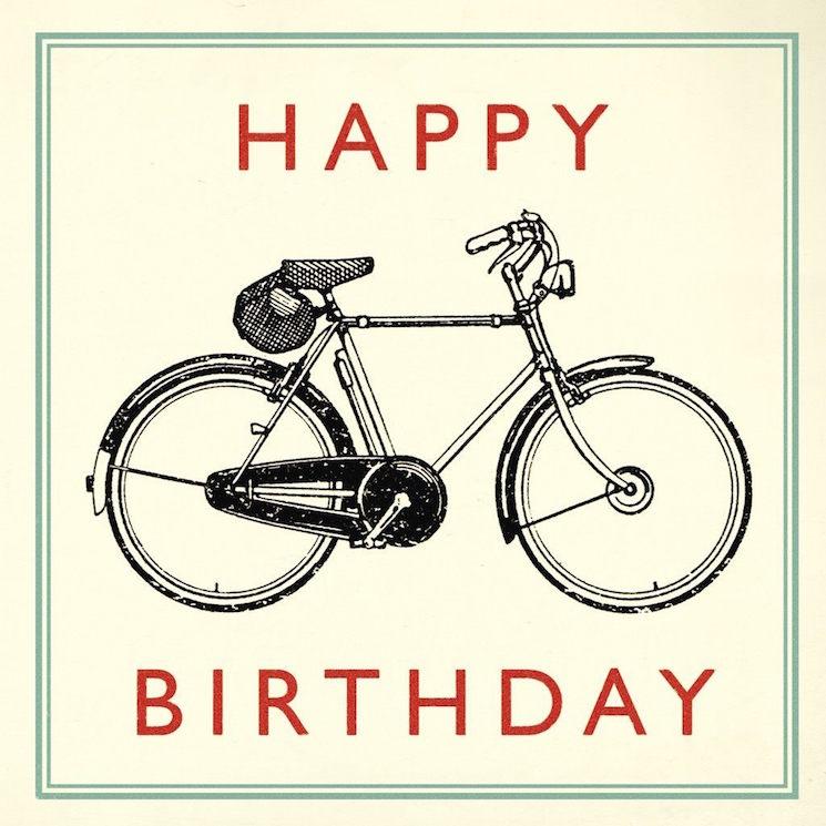 картичка за рожден ден с колело
